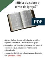 O que a Bíblia diz Sobre o Crescimento da Igreja