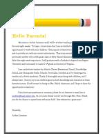artifact d parent communication ii