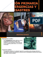Emergencias y Desastres F