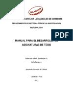 Manual Para El Desarrollo de Tesis