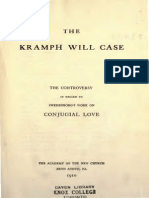 The KRAMPH WILL CASE The Controversy in regard to Swedenborg's Work on Conjugial Love ANC Bryn Athyn Pa 1910