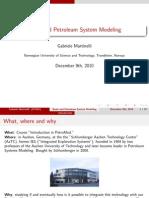 Modelamiento de Cuencas y Sistemas Petroleros