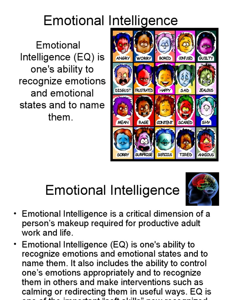 the effects of emotional intelligence in ones life Knowing your emotional quotient (eq), also called emotional  directly impact  our ability to react and respond to the stressors of life knowing.
