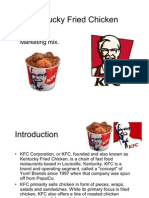 Kentucky Fried Chicken- KFC - Marketing Mix - four P's