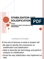 5.Stabilisation and Solidification