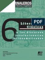 Jornaleros 06 - De las  Literaturas Clásicas a los Discursos Revolucionarios Latinoamericanos