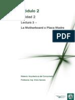 M2 Lectura 2 - La Motherboard o Placa Madre 2010