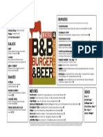 B&B Burger and Beer Menu