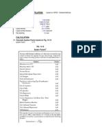 Fractionation Column Calculation