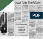 Youngest Candidate Promises Citizen Participation