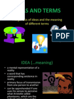 Ideas and Terms
