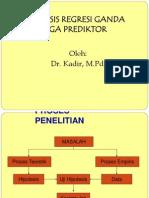 ANALISIS REGRESI - 3 PREDIKTOR