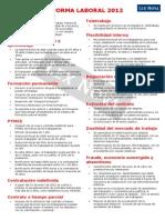 Reforma Laboral resumen - España