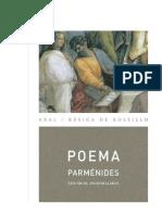 Parmenides Poema sobre el ser. Edicion Bilingüe