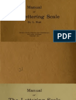 Manual of Lettering Scale by Rust