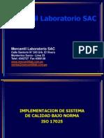 Implementacion de Sistema de Calidad Bajo Norma ISO 17025
