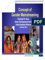 Session 1 - Concept of Gender Mainstreaming