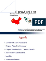 Colgate MaxFresh Global Brand Roll Out Marketing & Management Strategy for China and Mexico
