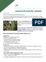 Desodorante Natural de Lavanda Sandalo y Coco 5552