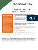 Majlis e Sehat USA Dallas Cricket Tour