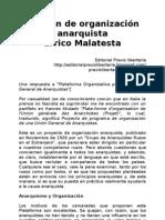 Errico Malatesta - Un Plan de Organizacion Anarquista