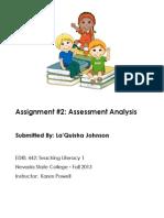EDRL442 Fall2013 LaquishaJOHNSON Assignment 2
