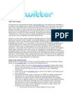 Twitter Project Description and Guidelines