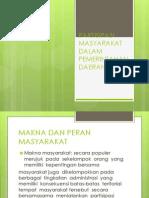 Partisipasi Masyarakat Dalam Pemerintahan Daerah