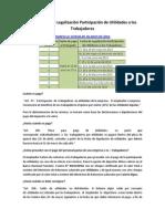 Cronograma de Legalización Participación de Utilidades a los Trabajadores
