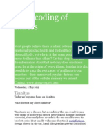 Biodecoding of Illness