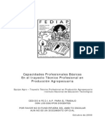 Capacidades Profesionales Básicas  del Técnico en Producción Agropecuaria