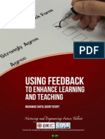 Using Feedback to Enhance Learning and Teaching