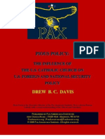 The Influence of the U.S. Catholic Church on U.S. Foreign and National Security Policy