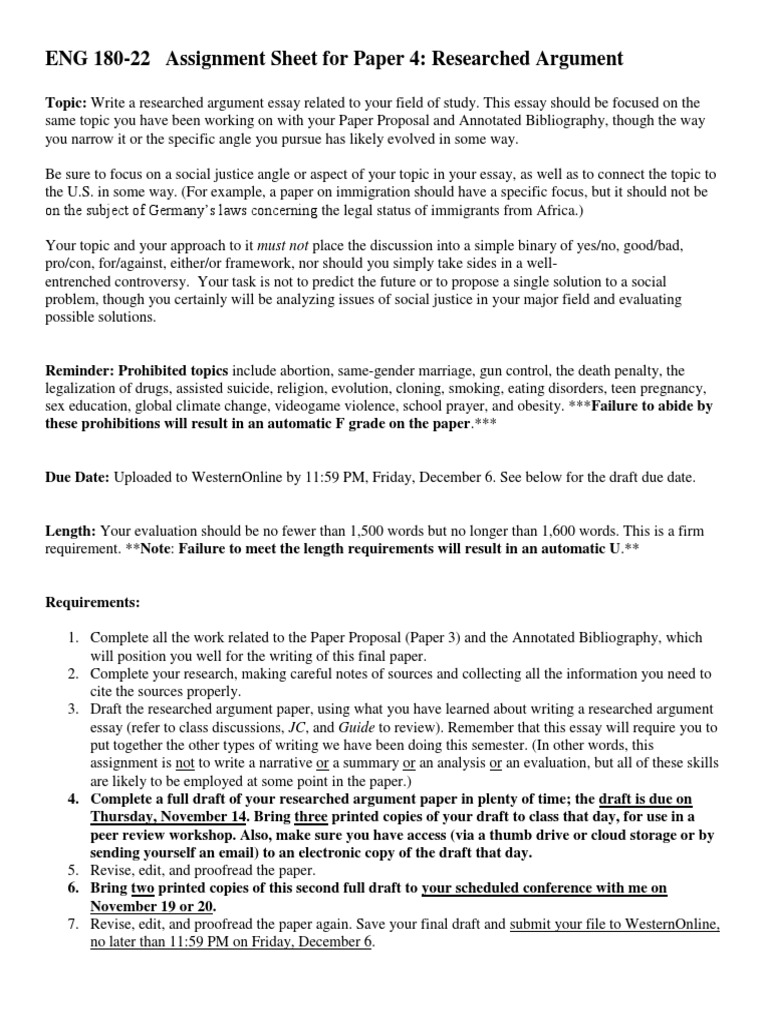top english essays argumentative essay proposal writing an  researched argument essay how a business letter should be written as paper researched argument essay assignment