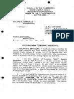 Sample Complaint-Affidavit for Homicide