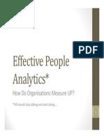Effective People Analytics OSU June 2013