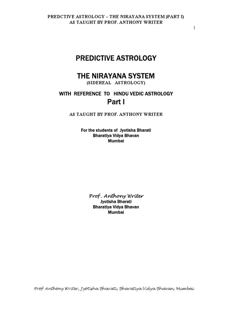 Note on Sidereal Astrology Part i   Hindu Astrology   Astrology