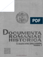 Documenta Romaniae Historica