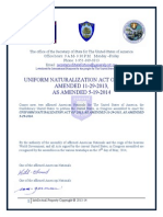 The Uniform Naturalization Act of 2013 as Amended 11-29-2013-Set