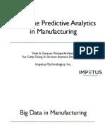 Real-time Predictive Analytics in Manufacturing - Impetus Webinar