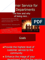 Customer Service for Fire Depts