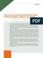 Social Economic Benefits