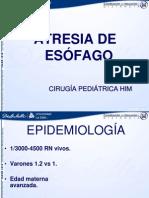 Atresia de Esofago