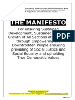 Manifesto for Inclusive Growth, Equality of All