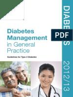 Diabetes Management in General Practice 2013