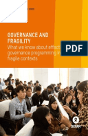 Governance and Fragility: What we know about effective governance programming in fragile contexts
