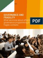 Governance and Fragility