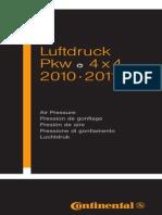 Tyre Air Pressure 2010 En