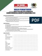 Formulir Pendaftaran Lomba Karya Tulis Dan Foto Jurnalistik