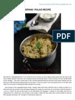 Rakskitchen.net-spicy Vegetable Biryani Pulao Recipe